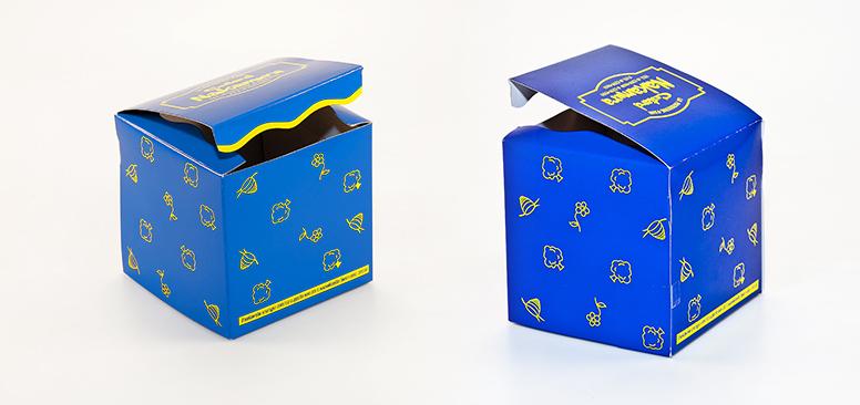 กล่องเค้ก คัสตาร์ดนากามูระ กระดาษกล่องแป้งหลังขาว พิมพ์ 2 สี เคลือบขัดเงา